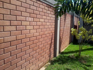 Compressed Cement Earth Brick Wall